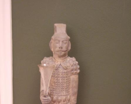 statue in hallway